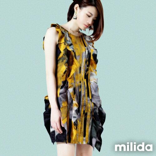 【Milida,全店七折免運】-夏季洋裝-無袖款-造型洋裝 0