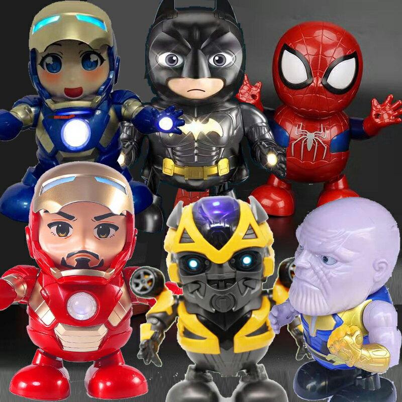 川劇變臉 雪寶 鋼鐵俠 會跳舞的機器人 發光蜘蛛人 蜘蛛人 美國隊長 大黃蜂 女鋼鐵人(小辣椒) 薩諾斯 0