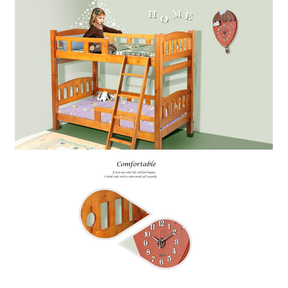 實木雙層8cm方柱上下舖兒童床組家具【1487724B】Leader傢居館