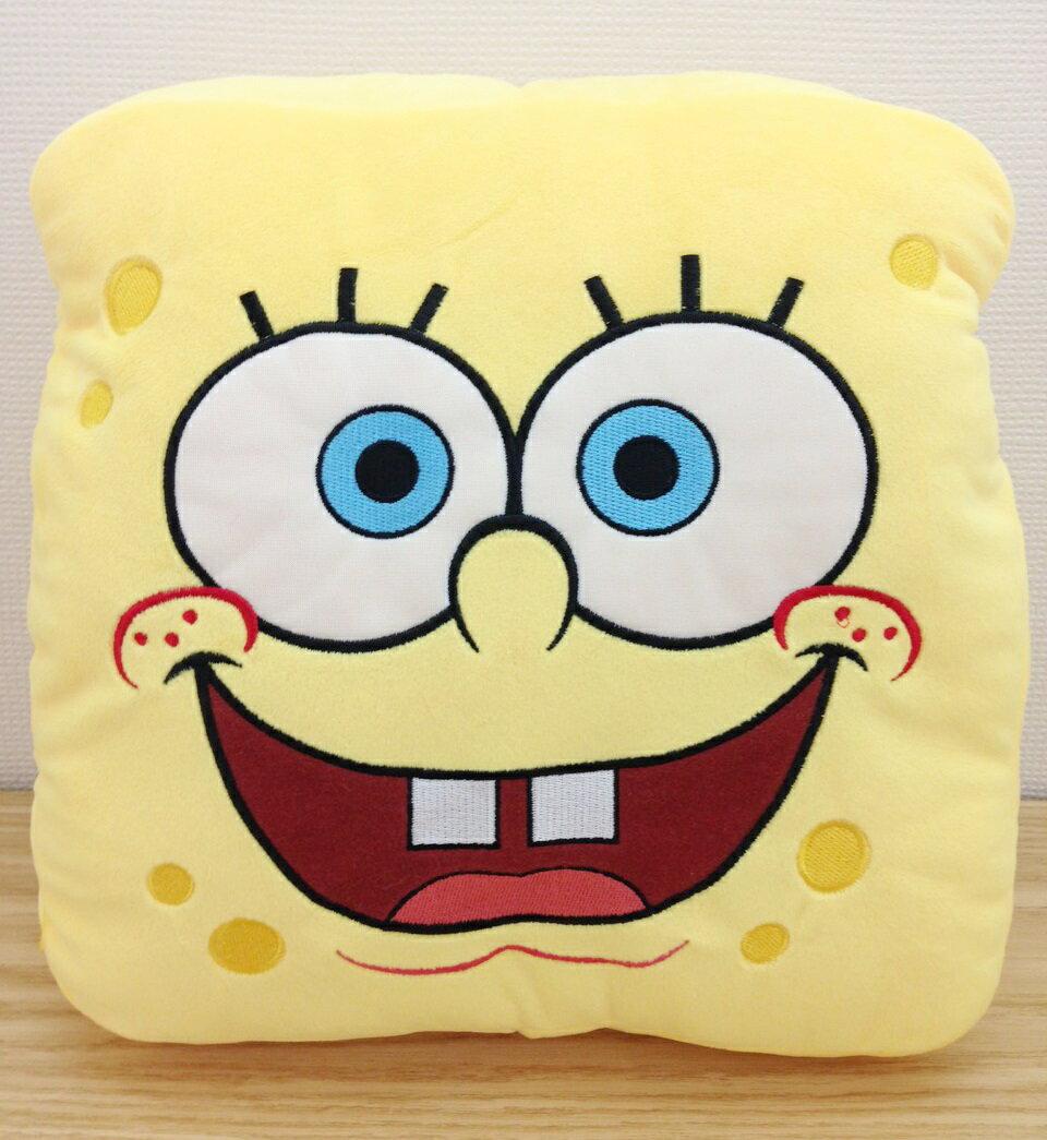【真愛日本】15111600006方型臉暖手枕-海綿寶寶    熱門卡通 海綿寶寶 派大星   暖手枕  靠枕  抱枕