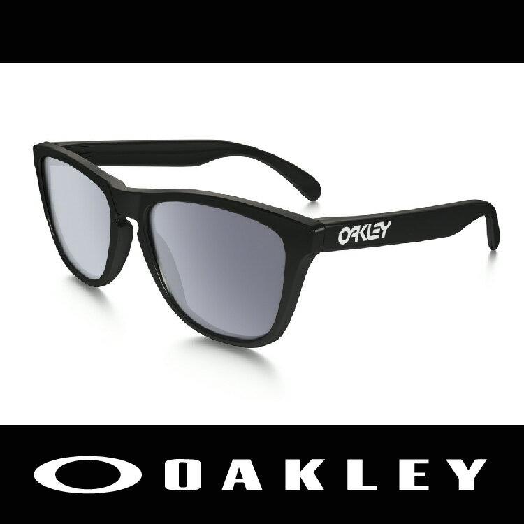 【新春滿額送後背包!只到2/28】OAKLEY 太陽眼鏡 FROGSKIN系列 黑色亮面鏡框 時尚有型 林依晨愛用 9245-01 萬特戶外運動