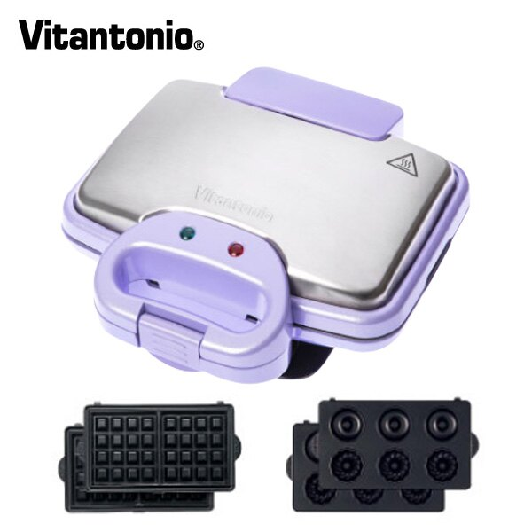 Vitantonio鬆餅機 242B(甜心紫) VWH-242