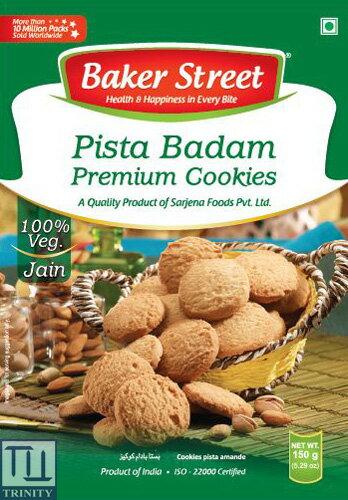 Bakers Street Pista Badam Cookies    印度杏仁/ 開心果烘培餅乾