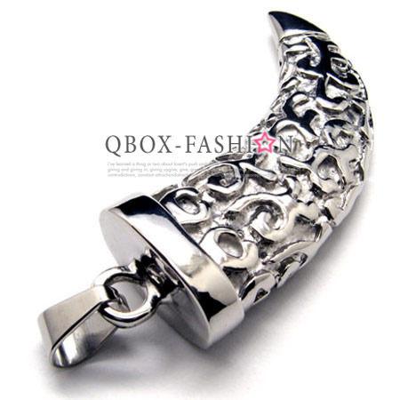 《 QBOX 》FASHION 飾品【W10016475】精緻個性賽德克.巴萊戰士月牙鑄造316L鈦鋼墬子項鍊