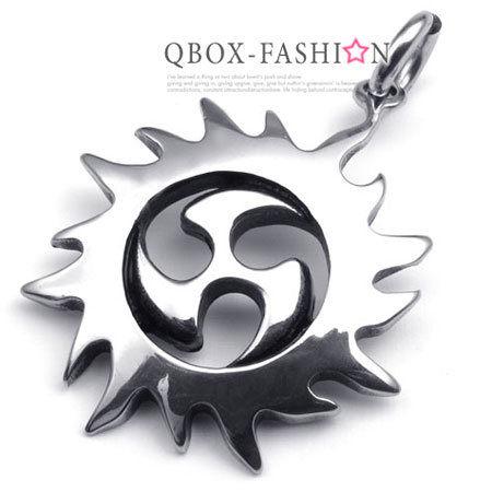 《 QBOX 》FASHION 飾品【W10022451】精緻個性風火輪鑄造316L鈦鋼墬子項鍊