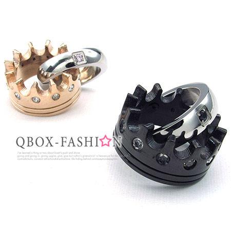 《QBOX》FASHION飾品【W10023948】精緻個性情侶皇冠百搭316L鈦鋼墬子項鍊(男女款)