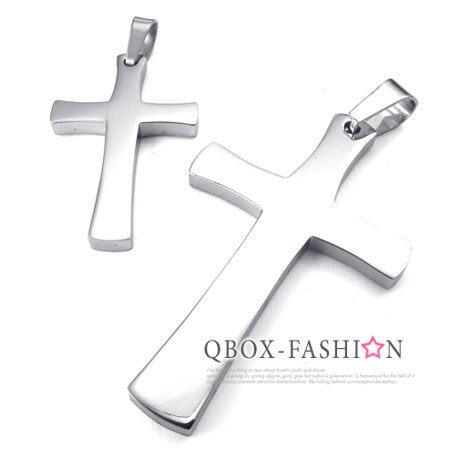 《 QBOX 》FASHION 飾品【W10024504】精緻個性情侶十字架316L鈦鋼墬子項鍊(男/女款)