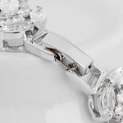 純銀手鍊 鍍白金鑲鑽手環-歐美閃要特別設計生日情人節禮物女飾品73cv31【獨家進口】【米蘭精品】