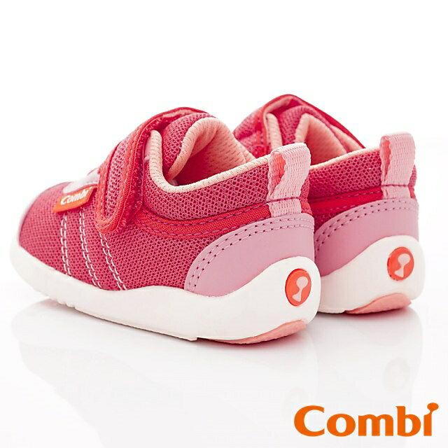 日本Combi童鞋 時尚紐約幼兒機能休閒鞋-魔力紅(加贈鞋墊)寶寶段 6