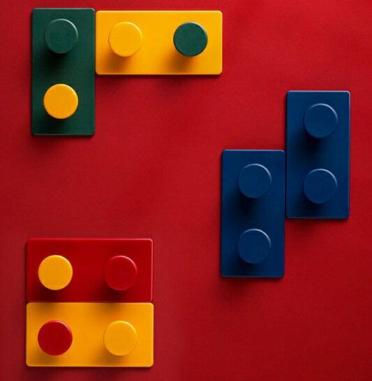 創意積木造型無痕掛勾多功能掛勾(1組8入)