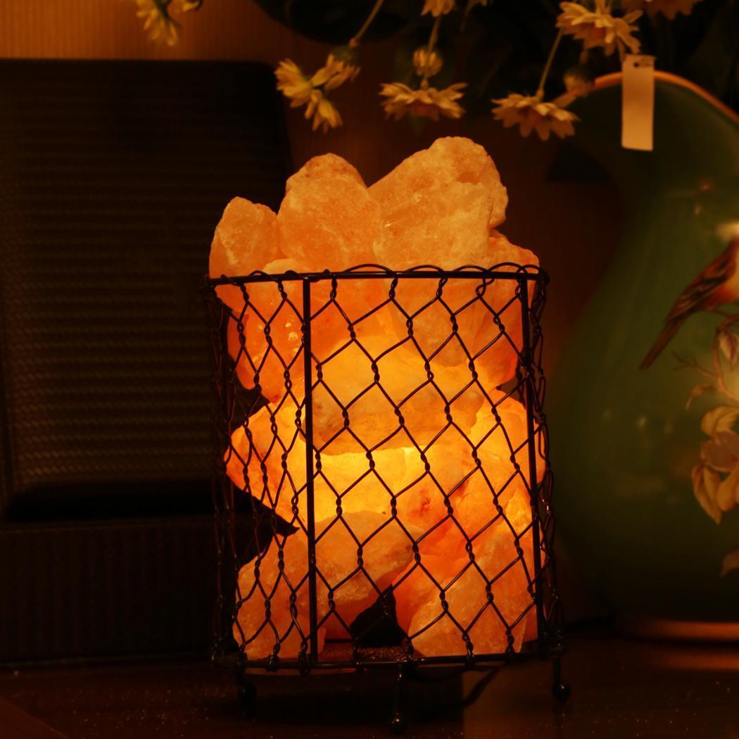 Salt Home Lamp Metal Basket US Plug 1