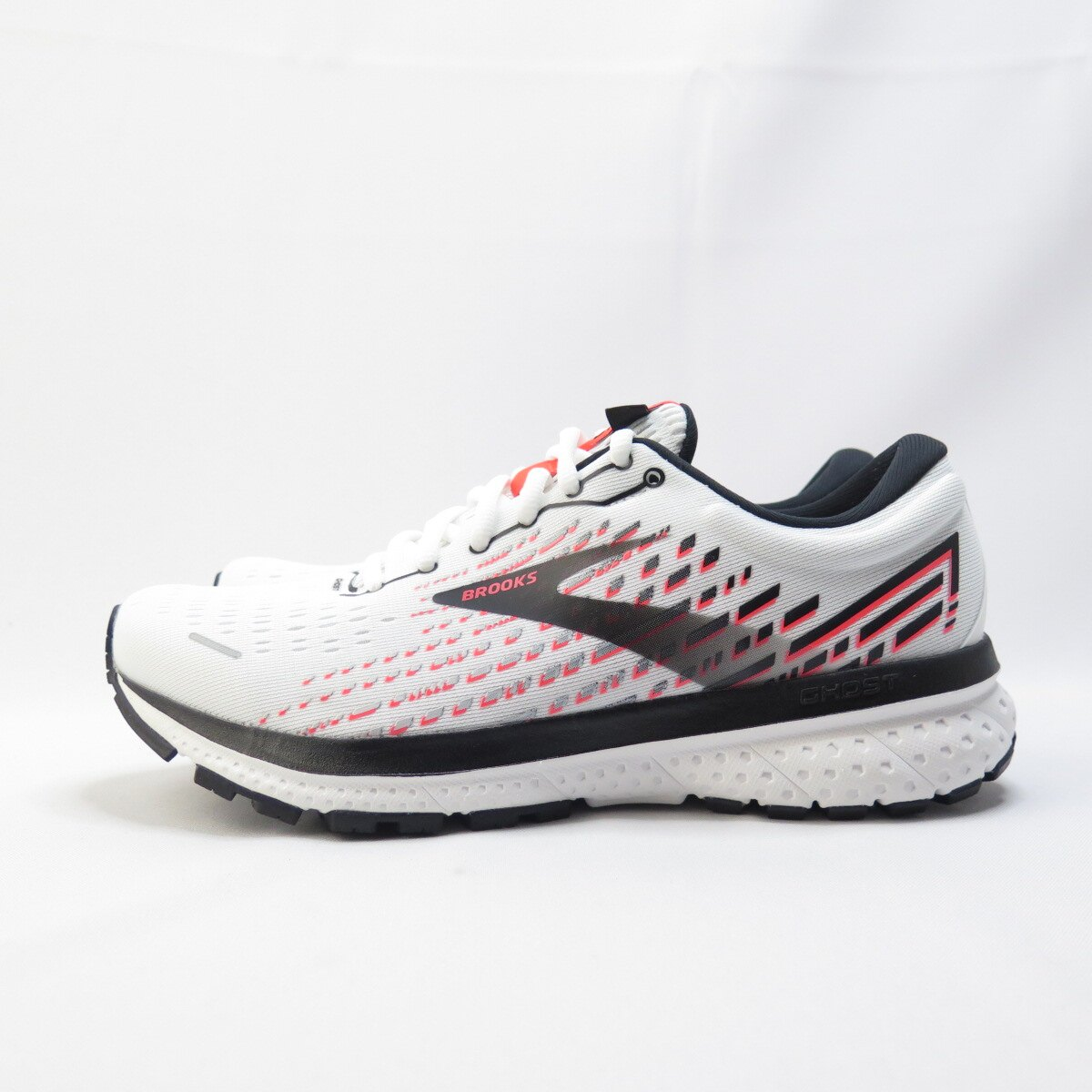 BROOKS GHOST 13 女款 慢跑鞋 D楦 1203381D192 白紅【iSport愛運動】
