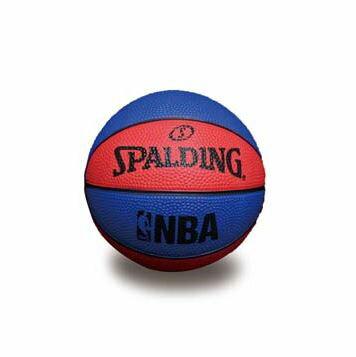 [陽光樂活] SPALDING 斯伯丁 NBA NO.1 迷你小籃球 橡膠 藍x紅 #1 SPA66993