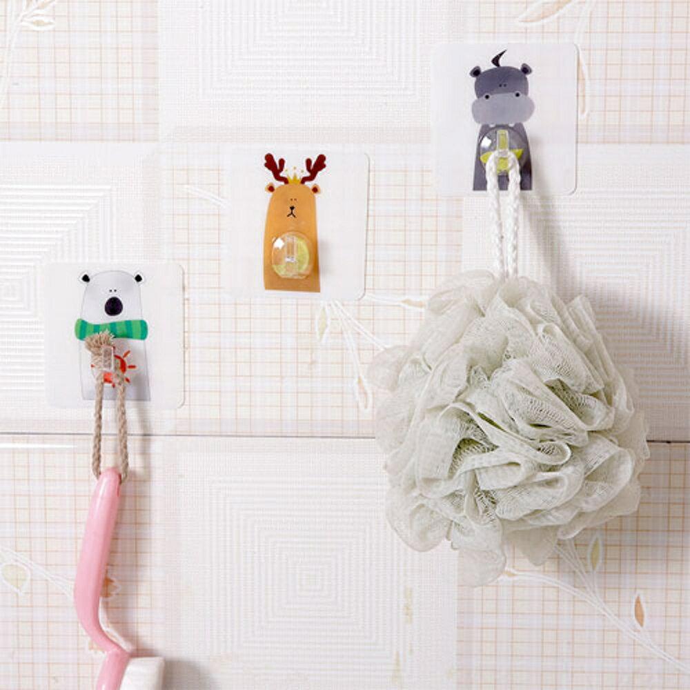✤宜家✤卡通動物強力無痕掛鉤 門後掛鉤 掛衣鉤 廚房衛浴強力掛鉤