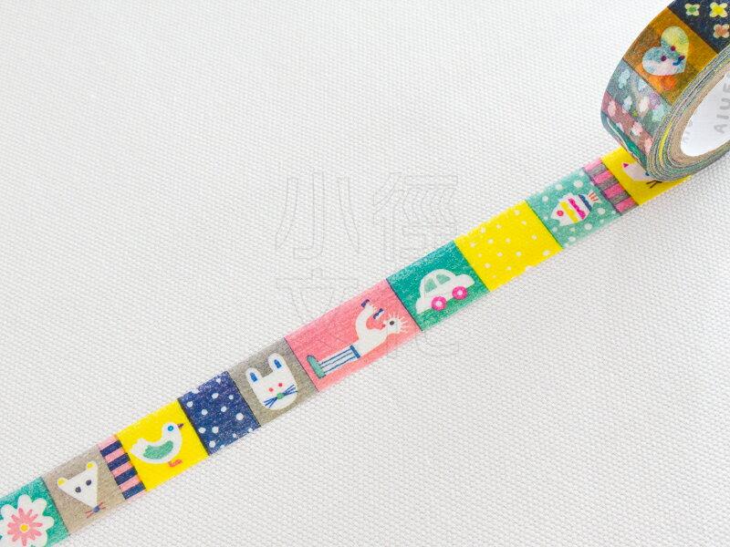 *小徑文化*日本進口 IROHA - AIUEO 系列和紙膠帶 - PATCHWORK ( AMT-07 )