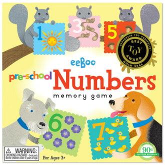 eeBoo 美國益智桌遊 學齡前記憶遊戲 – 數字款 Pre-School Numbers Memory Game
