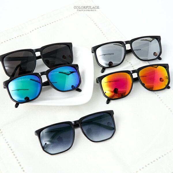 <br/><br/>  MIT台灣製抗UV400墨鏡 率性大方韓版大方框太陽眼鏡 柒彩年代【NY224】單支價格<br/><br/>