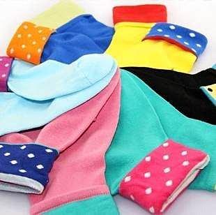 =優生活=韓國可愛襪子 糖果色襪子 點點襪子 中筒襪 少女襪