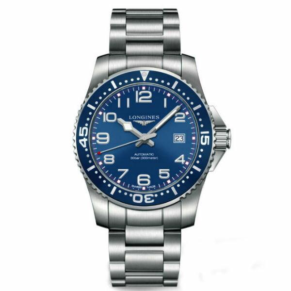 LONGINES L36954036深海征服者潛水機械腕錶/藍面41mm