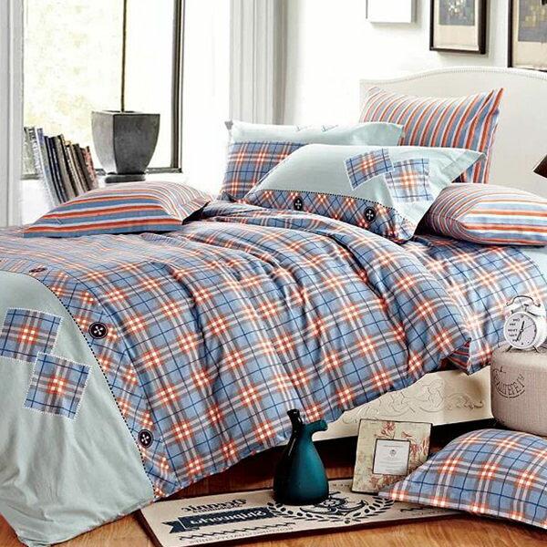 純棉 兩用被床包組 雙人四件式-布依時代/ 哇哇購