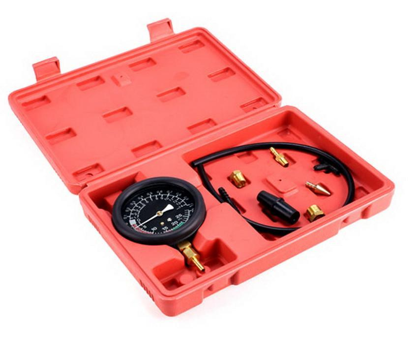 Fuel Pump & Vacuum Tester Gauge Leak Carburetor Pressure Diagnostics w/ Case Red 4