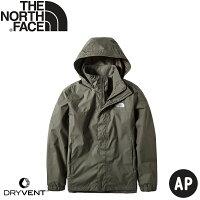 【The North Face 男 DryVent防水外套《灰綠》】49F7/防風外套/風衣/夾克-悠遊山水戶外生活館-運動休閒推薦