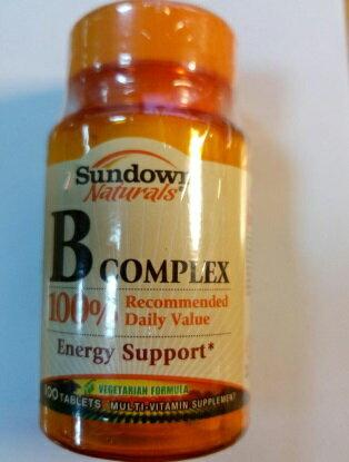 【小資屋】美國Sundown日落恩賜 每日綜合B群錠B-COMPLEX(100錠/瓶)完整B群+鈣效期2018.03