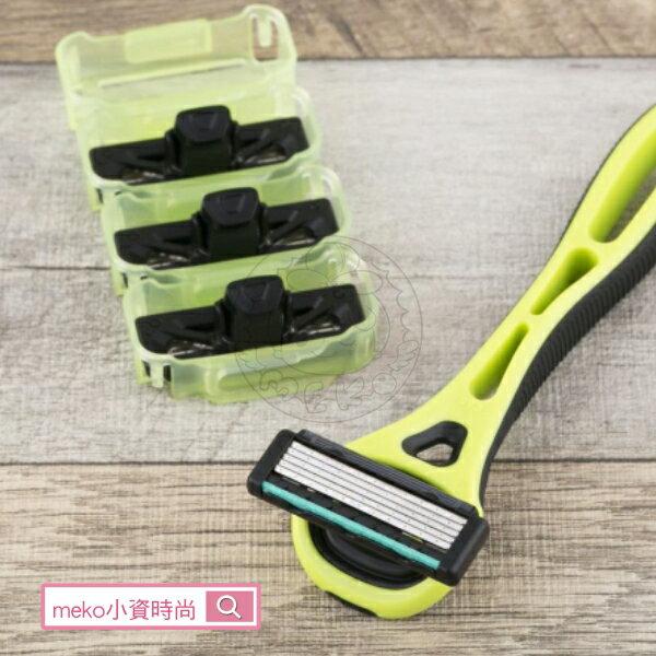 meko美妝生活百貨:【日本貝印】Xfit5刀刃刮鬍刀+4替刃