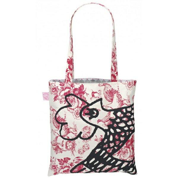 《法國 La Cocotte Paris》巴黎小散步雙面托特包/購物袋 Jouy Red Cocotte / Grey Chic Chick 0