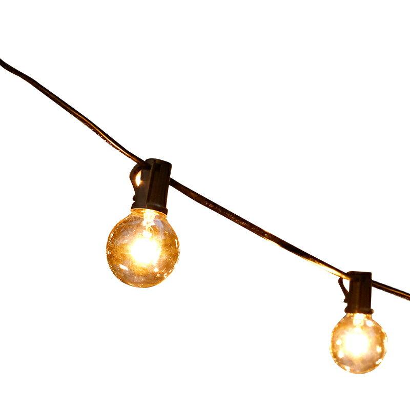 戶外超亮串燈防水掛燈小燈泡庭院花園別墅裝飾燈陽台氛圍燈