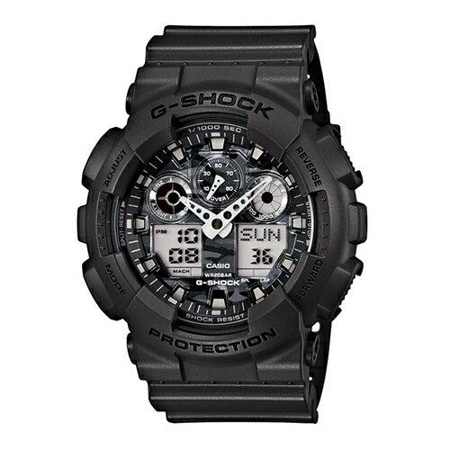 CASIO G-SHOCK GA-100CF-8A極地迷彩雙顯流行腕錶/51mm