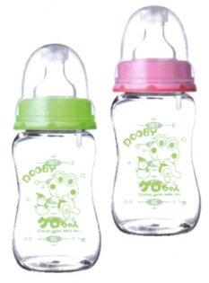 大眼蛙防爆寬口玻璃防脹奶瓶200c.c.280c.c.
