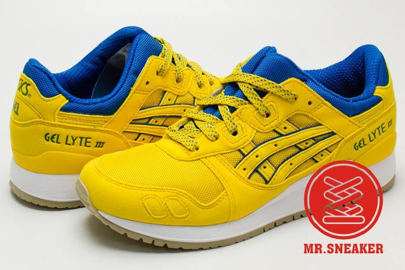 ☆Mr.Sneaker☆ ASICS Tiger GEL-LYTE III 復古跑鞋 分離式鞋舌 緩震 男女款 巴西 配色 黃