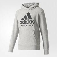 Adidas愛迪達,adidas愛迪達外套推薦到【H.Y SPORT】ADIDAS 灰 運動長袖 連帽外套 帽T 男生 雙層口袋拉鍊設計 B47375(正品公司貨)