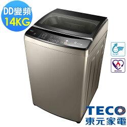 福利品 TECO東元 14公斤DD變頻直驅洗衣機 W1488XS 晶鑽銀