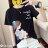 F-DNA★清新小女孩側影印圖圓領短袖上衣T恤(3色-M-2XL)【ET12698】 3