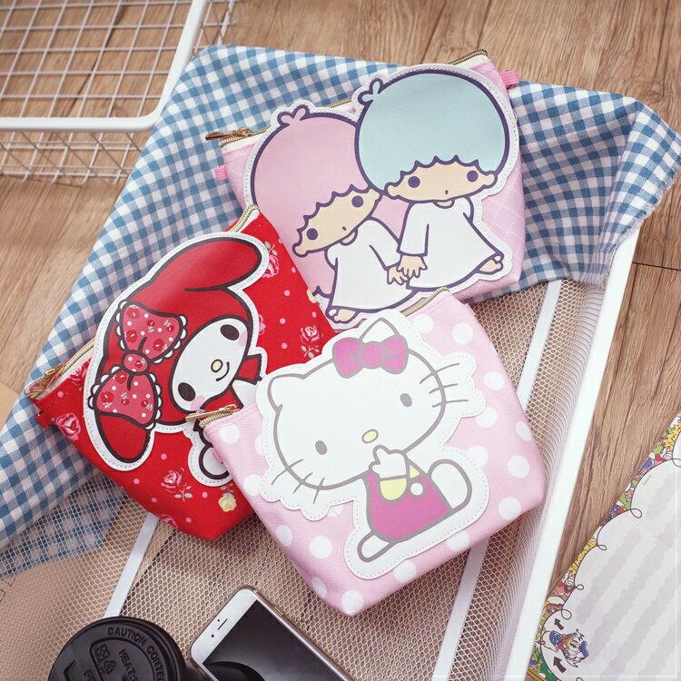 PGS7 三麗鷗系列商品 - 三麗鷗 手機 皮夾 收納 側背包 Kitty Melody KikiLala【SI2D71012】