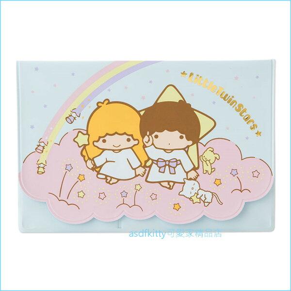 asdfkitty可愛家☆雙子星雲朵存摺收納夾-可放存摺.卡片.證件...等-日本正版商品
