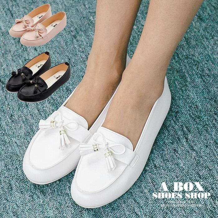 【ANW526】*限時免運* MIT台灣製 蝴蝶結流蘇 豆豆鞋 圓頭包鞋 娃娃鞋 3色