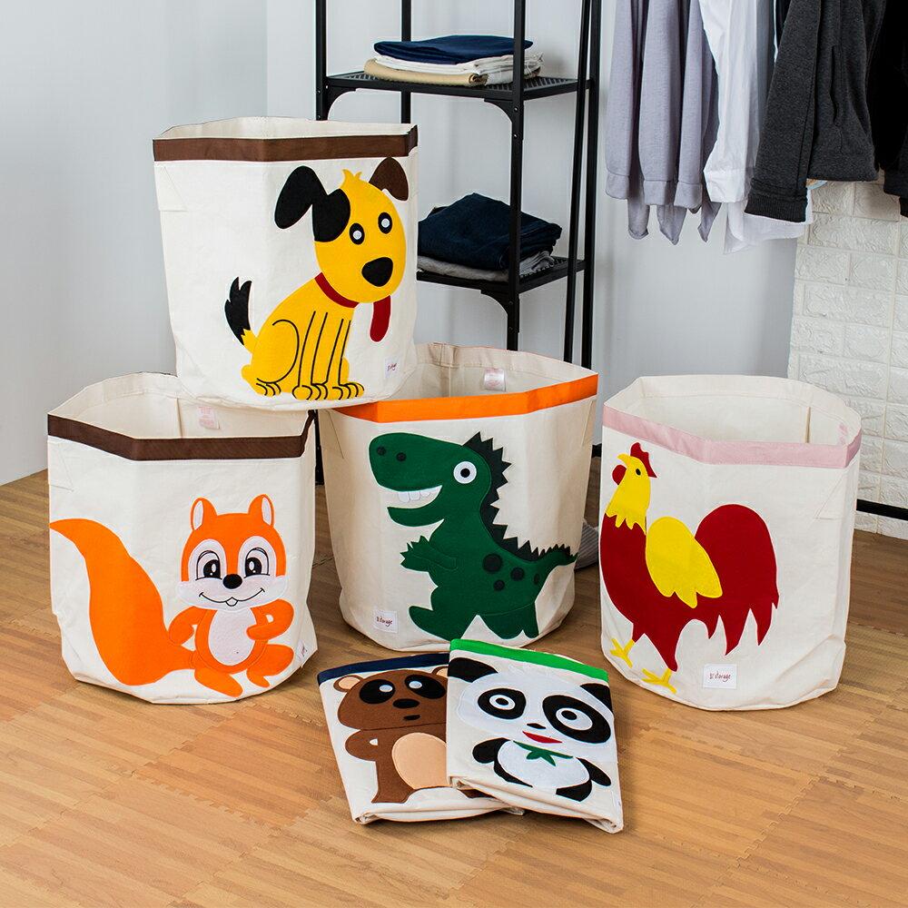 可愛動物收納籃-6款 玩具收納 衣物收納 髒衣籃 加拿大3 Sprouts │ 棉麻收納籃 洗衣籃 髒衣籃 收納箱