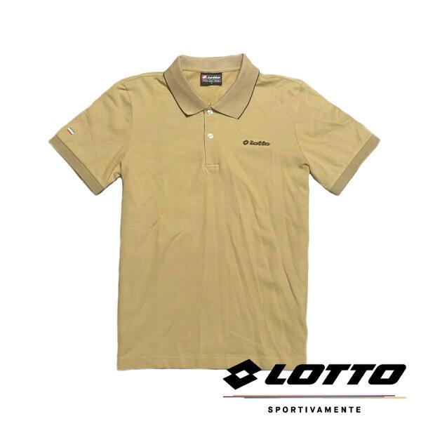 【巷子屋】義大利第一品牌-LOTTO樂得男款經典棉感POLO衫[LT2BMN32010]卡其超值價$298