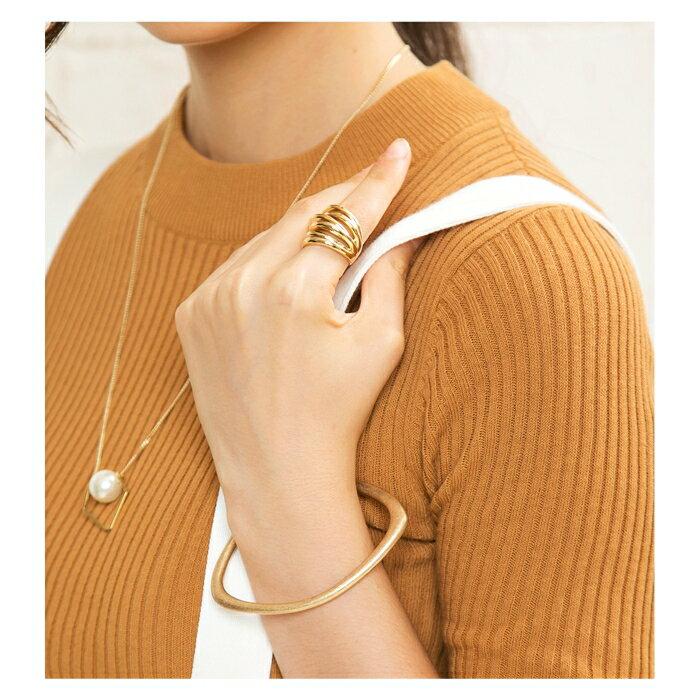 日本CREAM DOT  /  バングル ヴィンテージ メタル レディース ゴールド 金 シルバー 銀 シンプル 上品 ブランド アクセサリー プレゼント 大人 レディース 女性 大人 ジュエリー  /  qc0320  /  日本必買 日本樂天直送(1690) 3