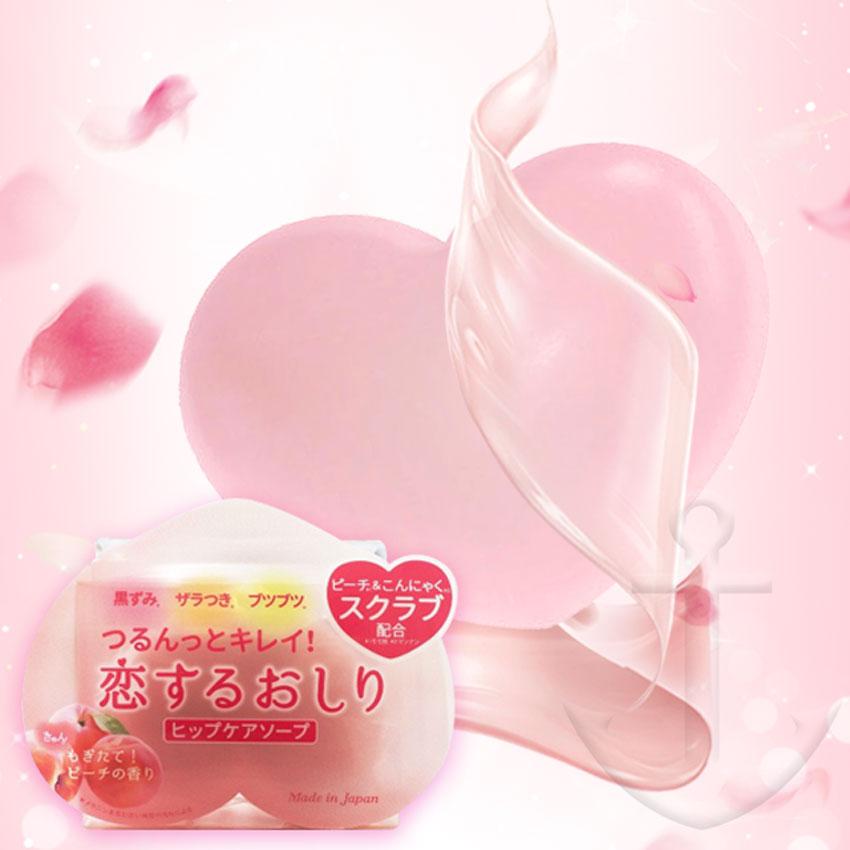 Pelican戀愛蜜桃去角質皂 臀部屁屁專用 蜜桃皂 80g 日本製