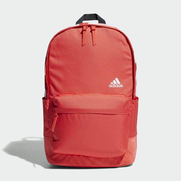 ADIDAS後背包雙肩休閒加厚背帶紅白【運動世界】CV4947