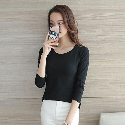 純色上衣長袖衫T恤 (2色,S~2XL) 【OREAD】 1
