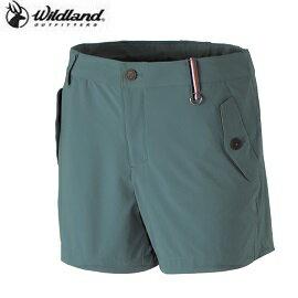 [ WILDLAND 荒野 ] 女 四向彈性抗UV短褲 淺綠 / 0A31397-37