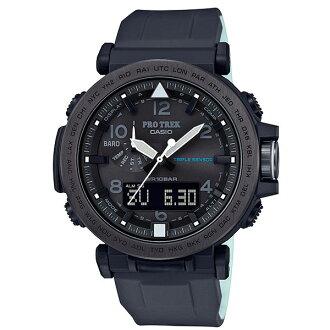CASIO卡西歐PRO TREK 登山錶 PRG-650Y-1雙顯第三代三大感應器專業登山太陽能腕錶/51.5mm
