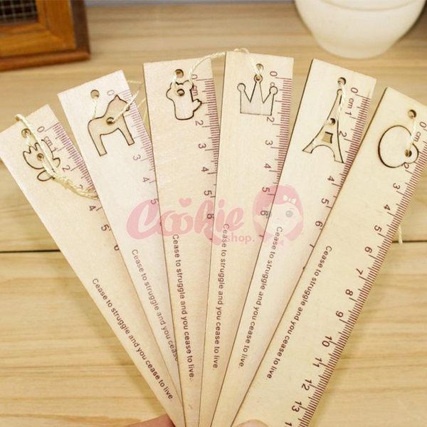韓國文具創意鏤空木尺書籤六款【庫奇小舖】隨機出貨