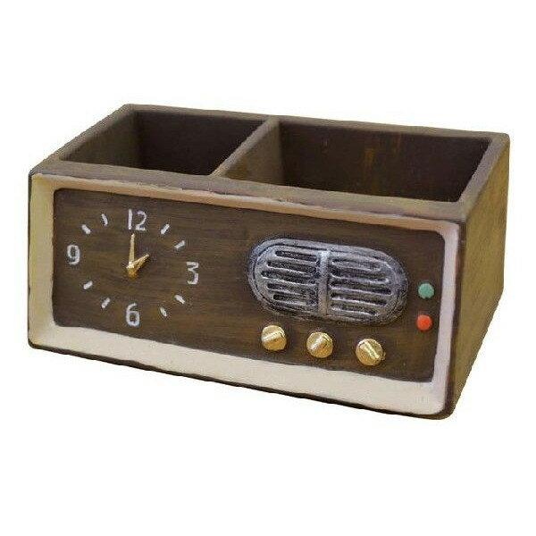 【This-This】日本 DECOLE 復古收音機造型迴紋針/便條紙收納盒