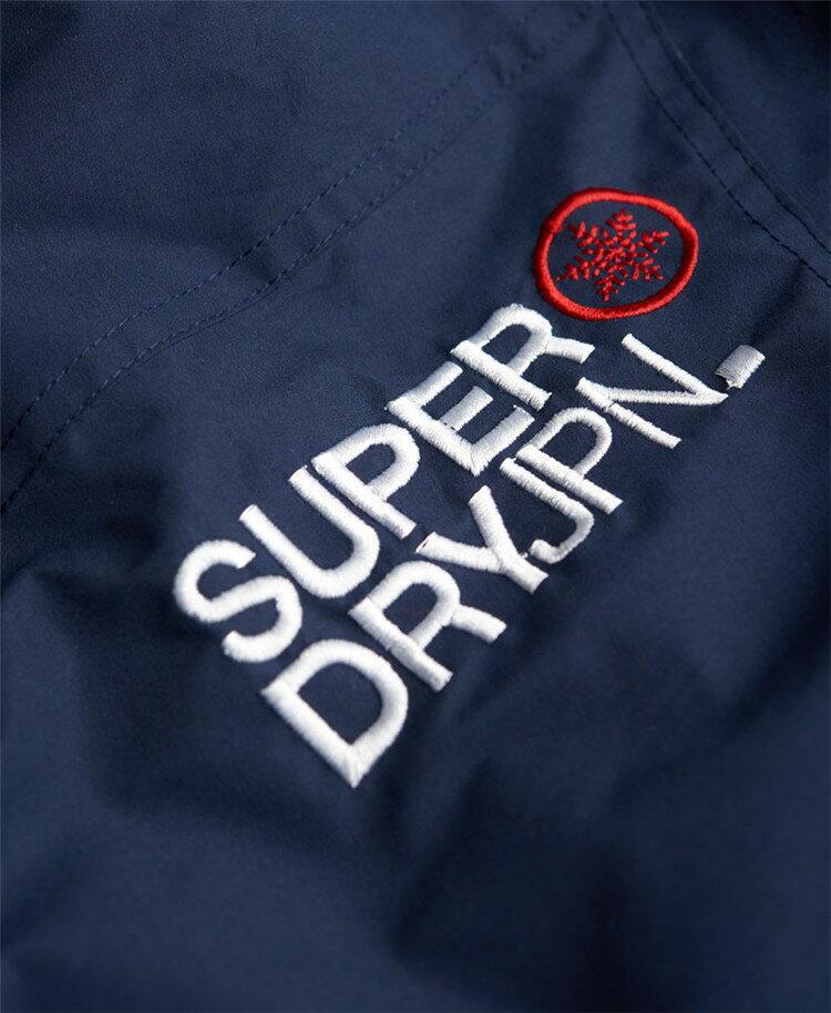 [男款]英國代購 極度乾燥 Superdry Snow Rider 立領 刷毛 防寒防風水滑雪衣系列 風衣雪地騎士 深藍/紅色 5